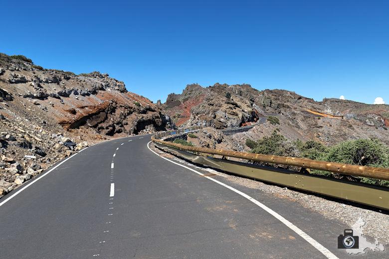 La Palma, Straße zum Mirador del Roque de los Muchachos