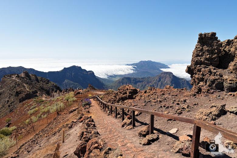 La Palma, Mirador del Roque de los Muchachos, Wanderweg