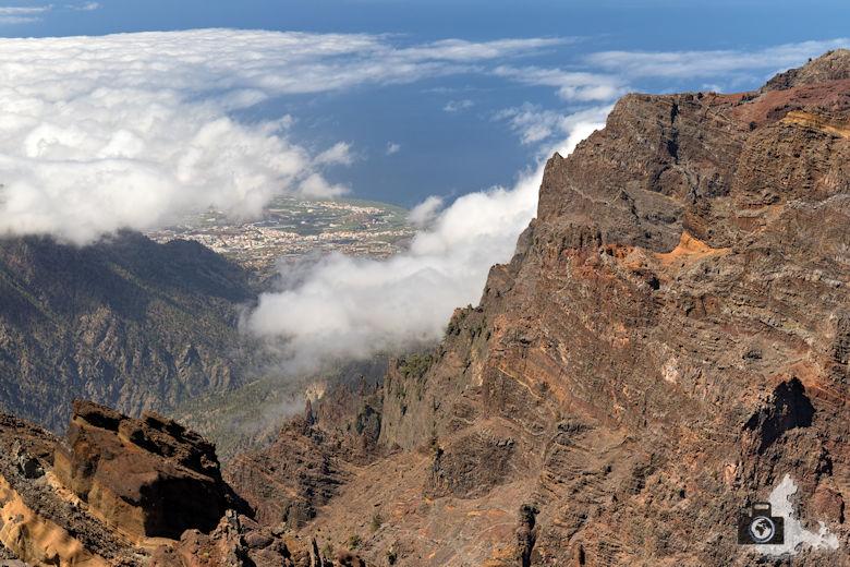 La Palma - Mirador del Roque de los Muchachos, Aussicht