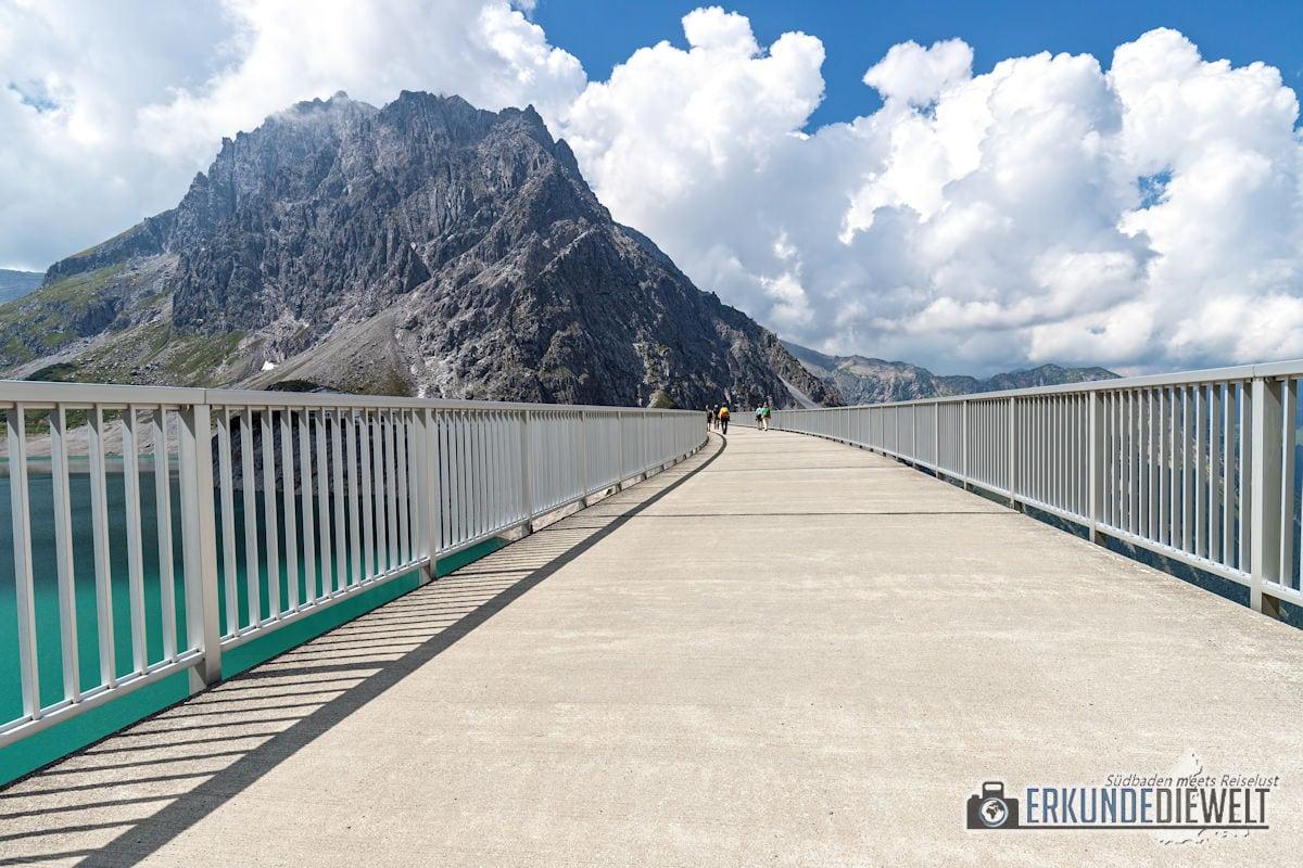 Staudamm Lünersee, Brandnertal, Österreich
