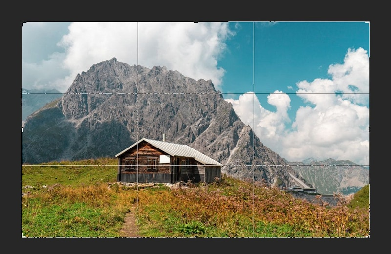 Bildbearbeitung - Zuschneiden nach der Drittelregel