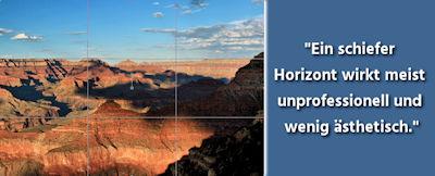 Fotografie Tipps - Drittelregel & gerader Horizont