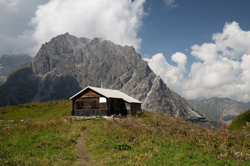 Kreative Bildbearbeitung Folge 1 - Fotobearbeitung Österreich Berghütte - Originalbild