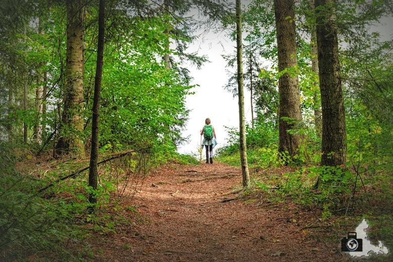 Wanderung Dreisamtal - Kapellenweg Stegen - Wanderin