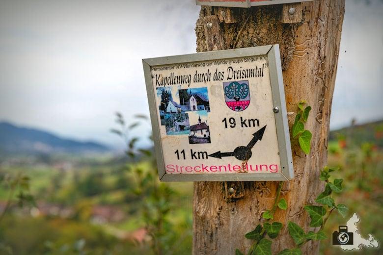 Wanderung Dreisamtal - Kapellenweg Stegen - Wegweiser