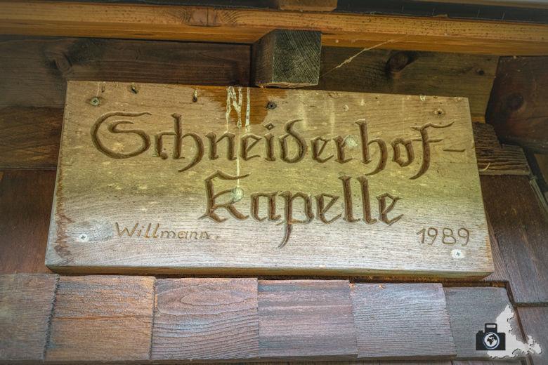 Wanderung Dreisamtal - Kapellenweg Stegen - Schneiderhofkapelle