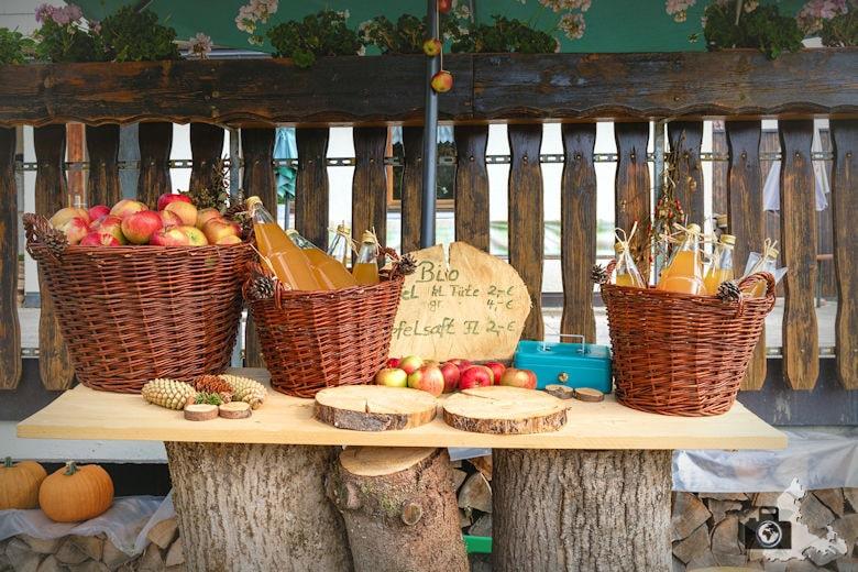 Wanderung Dreisamtal - Kapellenweg Stegen - Apfelsaft Verkauf