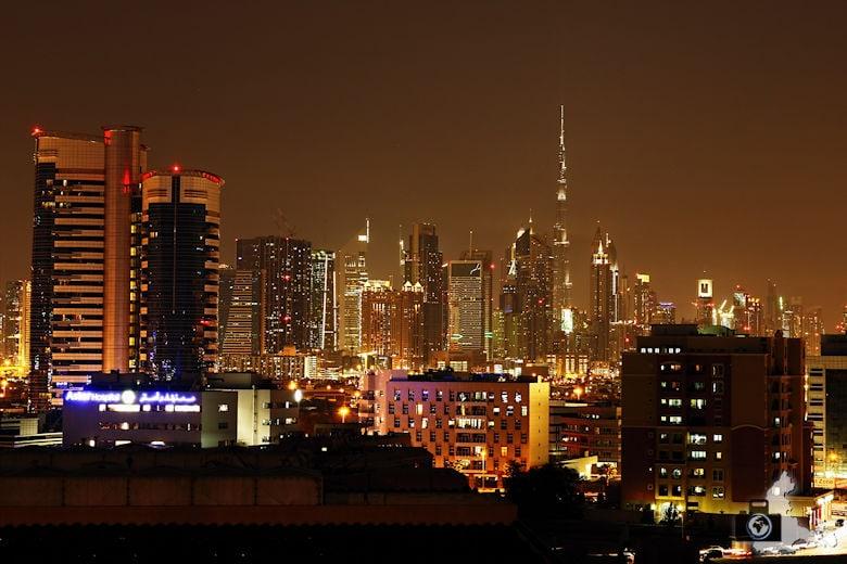 Fotografieren in Dubai - Skyline bei Nacht