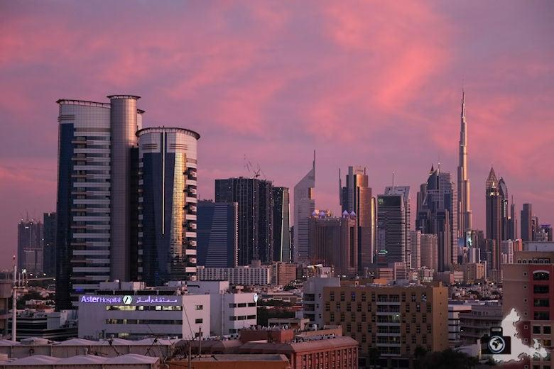 Fotografieren in Dubai - Skyline nach Sonnenuntergang
