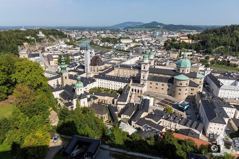 Blick über Salzburg - Festung Hohensalzburg