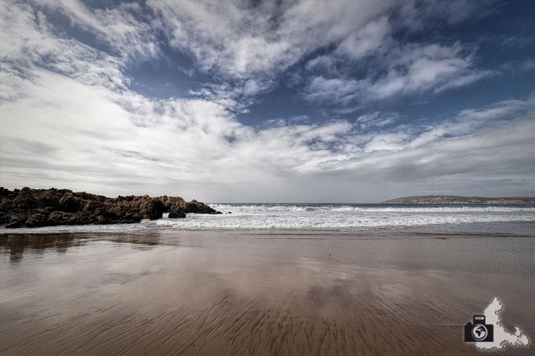 Tipps zum Fotografieren an Strand & Küste - Führungslinien im Sand