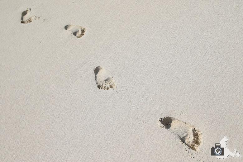 Tipps zum Fotografieren an Strand & Küste - Fußspuren im Sand