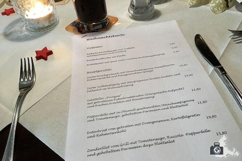Restaurant-Test - Gasthaus Bären in Freiburg - Speisekarte