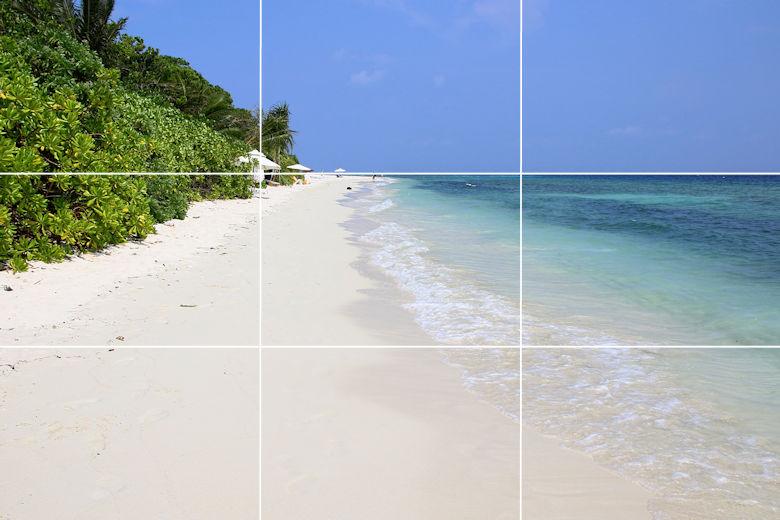 Goldener Schnitt - Beispiel - Landschaft Malediven