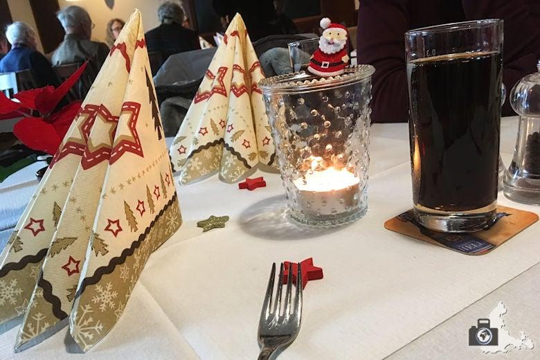 Restaurant-Test - Gasthaus Bären in Freiburg - weihnachtliche Deko