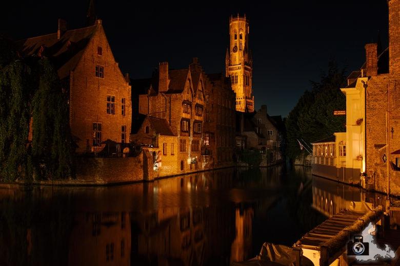 Fotografie Tipps Städtefotografie - Brügge - Nachtaufnahme