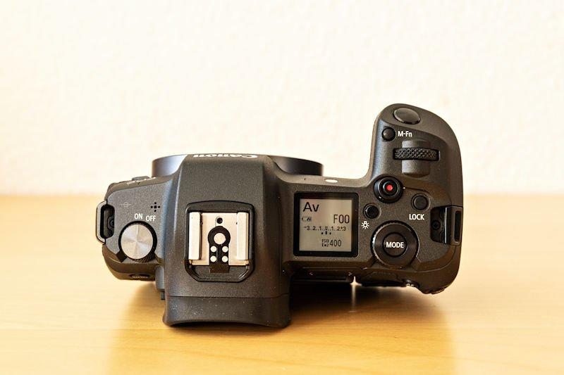 Canon EOS R Testbericht - Oberseite
