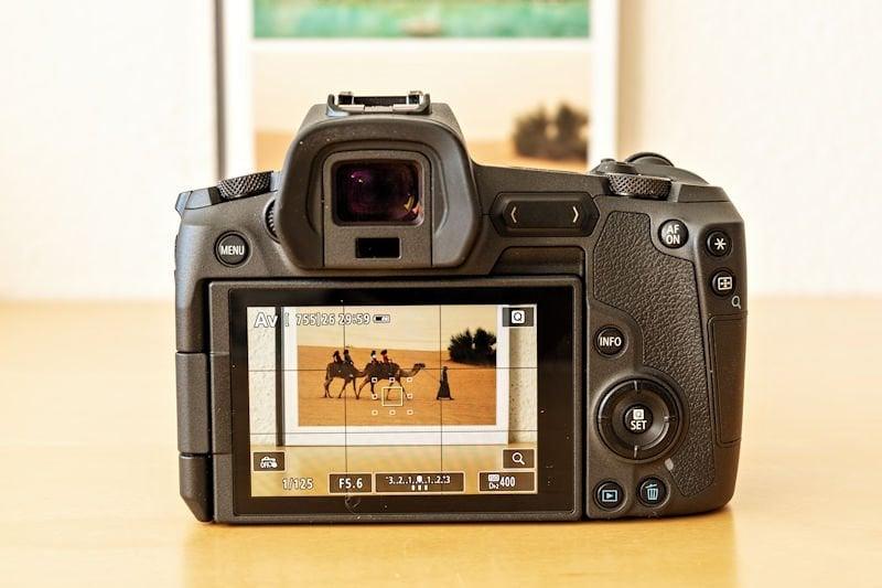 Canon EOS R Testbericht - Display