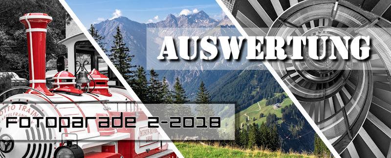 Auswertung Fotoparade 2-2018