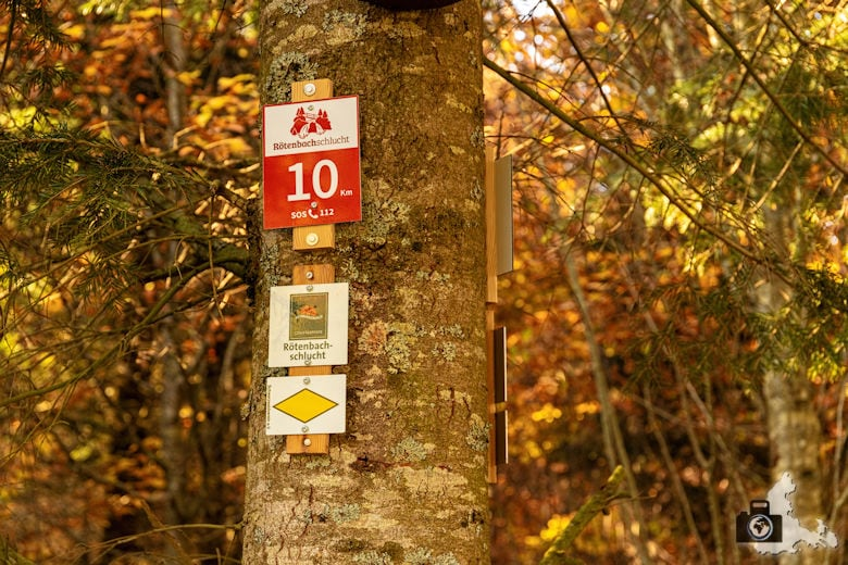 Schwarzwälder Genießerpfad - Rötenbachschlucht - Wegweiser