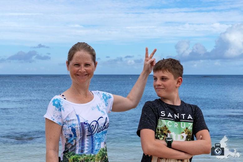 Spaß am Strand von Mauritius