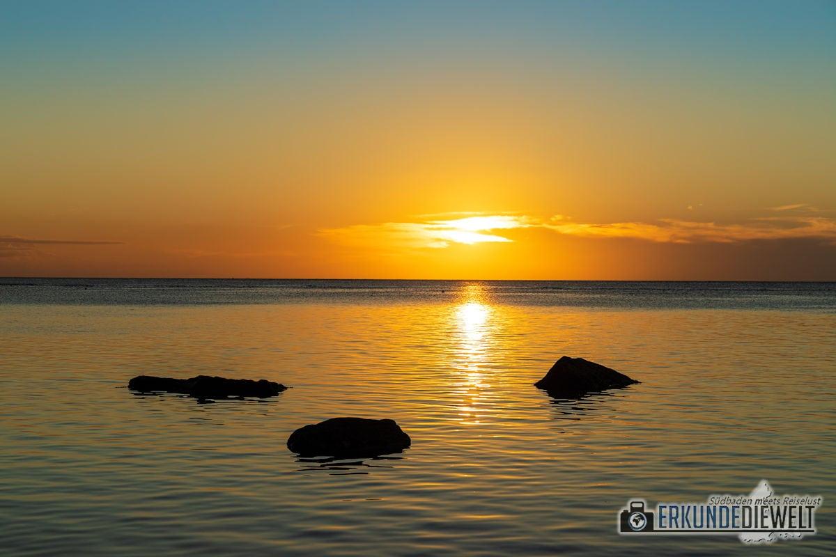 Abendsonne am Strand, Mauritius