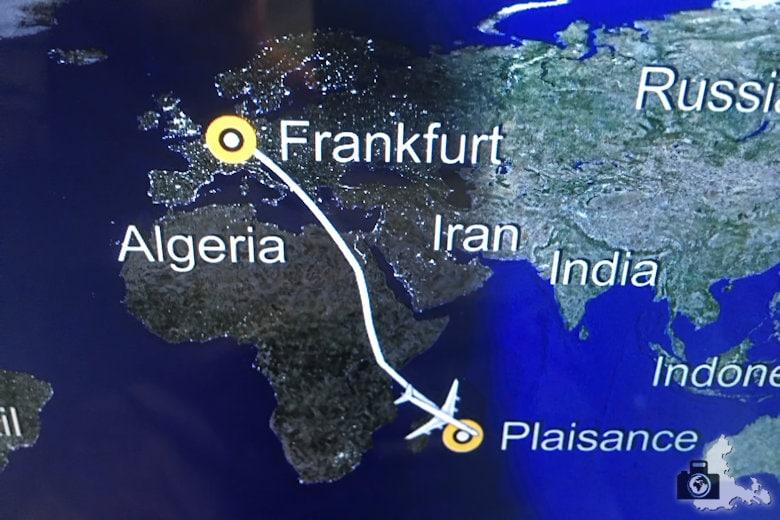 Flug nach Mauritius - Reiseroute