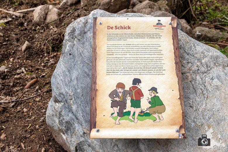 Schwarzwälder Genießerpfad - Säbelthomaweg Hinterzarten - Infotafel