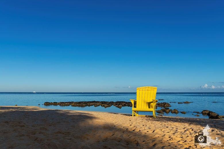 Stuhl am Strand, Mauritius