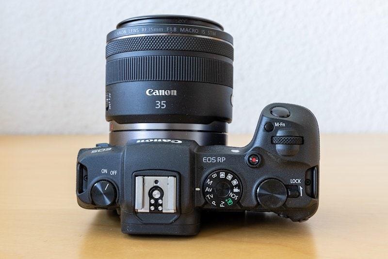 Canon EOS RP - Oberseite