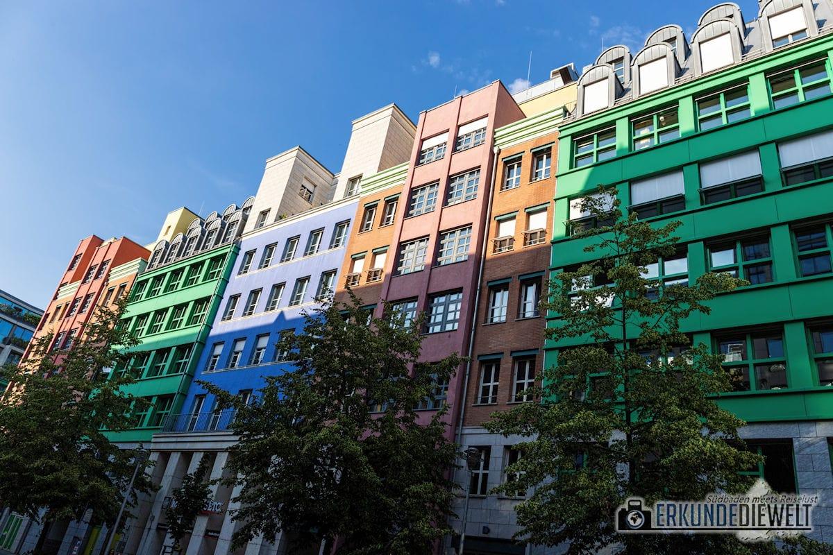 Farbige Hausfassade, Berlin, Deutschland
