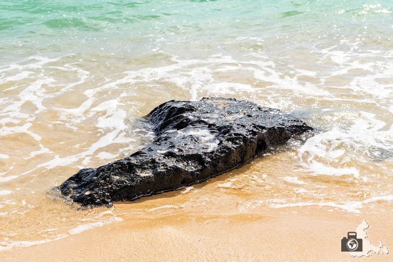 Fotowalk #9 - Am Strand von Mauritius - Fels im Wasser