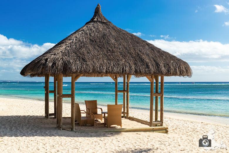 Fotowalk #9 - Am Strand von Mauritius - Strandpavillon