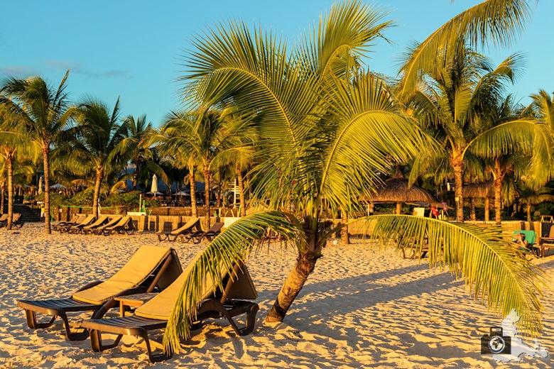 Strand auf Mauritius in der Abendsonne