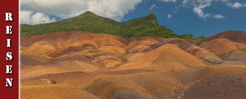 Siebenfarbige Erde bei Chamarel auf Mauritius