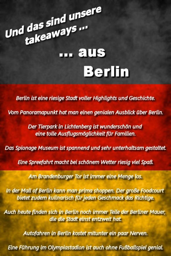Takeaways Berlin