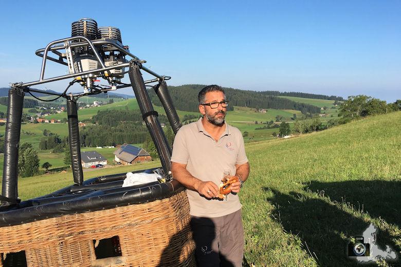 Ballonfahrertaufe, Hinterzarten, Schwarzwald