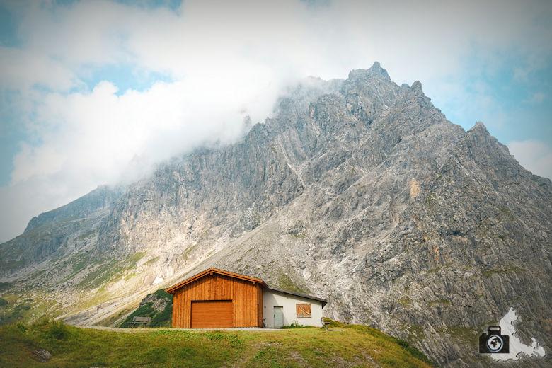 Berghütte, Lünersee, Brandnertal, Österreich
