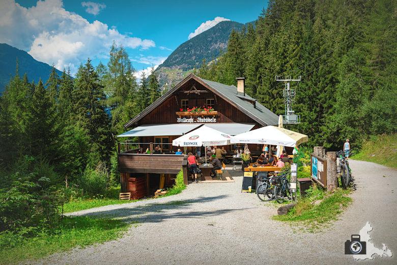 Einkehr nahe dem Stuibenfall, Ötztal, Österreich