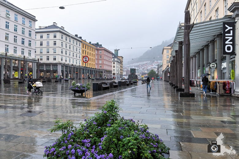 Bergen im Regen