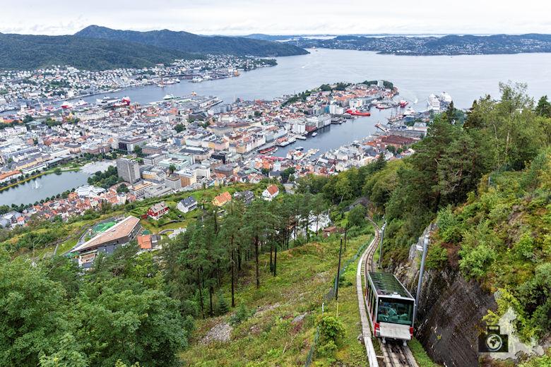 Aussicht vom Floyen über Bergen