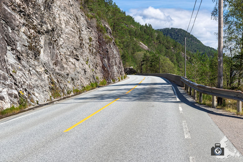 Auf der E39 von Bergen nach Lavik