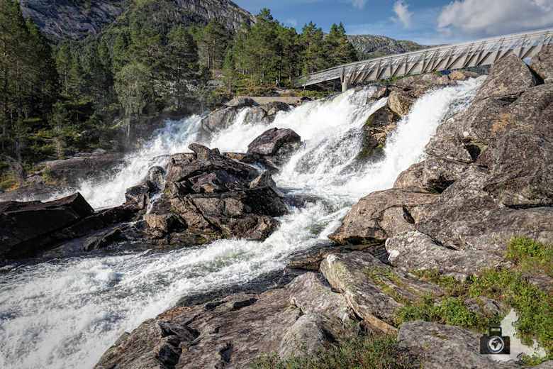 Likholfossen, Gaularfjellet, Norwegen