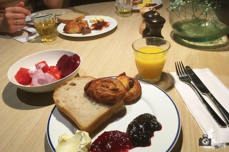 Frühstück im Zander K Hotel, Bergen, Norwegen