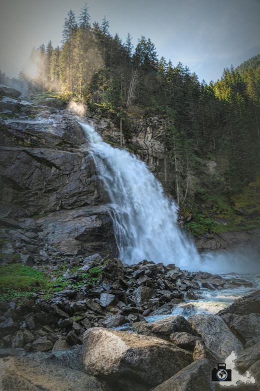 Krimmler Wasserfälle in Österreich, Hohe Tauern - Untere Fallstufe