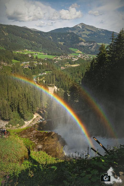 Krimmler Wasserfälle in Österreich, Hohe Tauern - Regenbogen