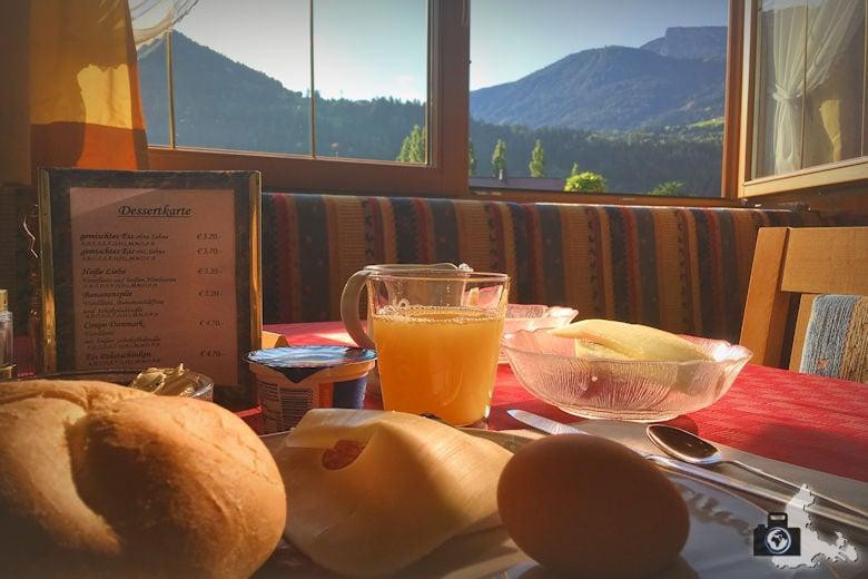 Frühstück im Alpenhof Hotel Garni