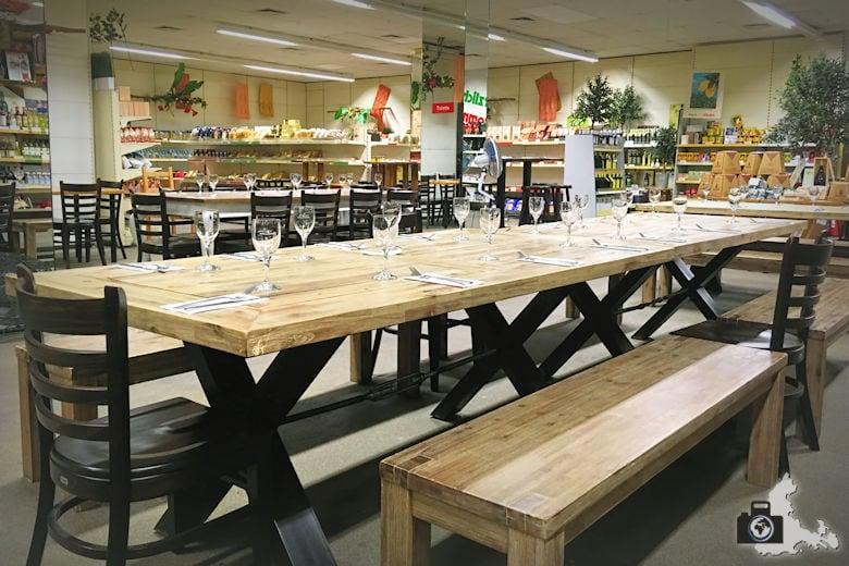 Trattoria im Primo Market Freiburg - Supermarkt Atmosphäre