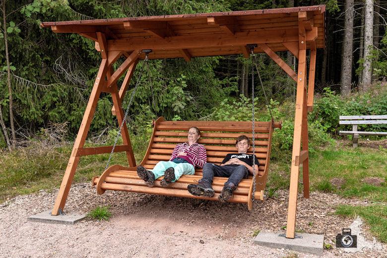 Bank zum Ausruhen, Schwarzwälder Genießerpfad Heilklima-Steig Schönwald