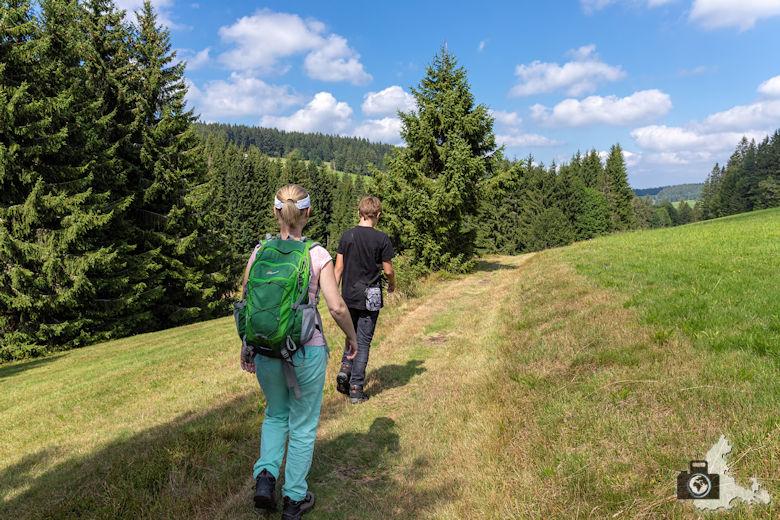 Wanderer, Schwarzwälder Genießerpfad Heilklima-Steig Schönwald